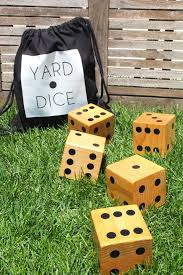 make a set of diy wooden yard dice for a fraction of the