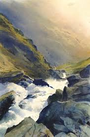 afon croesor an original watercolour painting by rob piercy mountains lakes and rivers