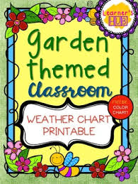 Weather Color Chart Garden Themed Weather Chart Printable Classroom Decor Pack