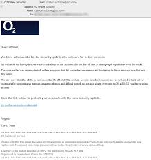 Customer Service Apology Email O2 Phishing Emails Pose As Network Disruption Apology