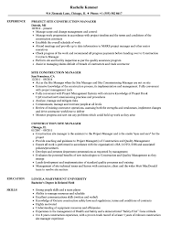 Construction Site Manager Sample Resume Construction Site Manager Resume Samples Velvet Jobs 3