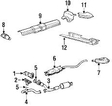 parts com® saturn l300 exhaust components oem parts 2003 saturn l300 base v6 3 0 liter gas exhaust components