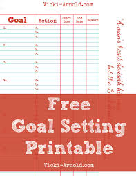 Free Goal Setting Printable Worksheet Simply Vicki