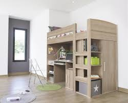 image of twin full loft bed with desk