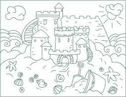 Free Sand Castle Coloring Sheet For