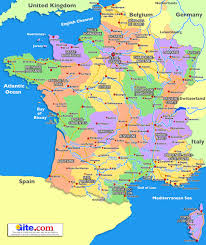 map of france  plan your holiday in france with gitecom