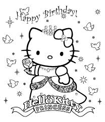 Small Picture 21 Hello Kitty Happy Birthday Coloring Pages Celebrations