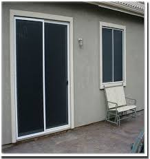 sliding glass doors can have sun screens installed too