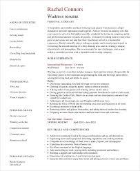 resume sample for restaurant server sample server resume 7 examples in word pdf