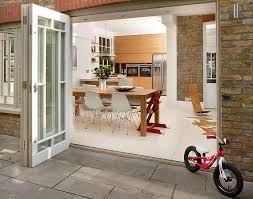 Plain Folding Patio Doors Cost Traditionalstyle Timber Bifold E Intended Decor