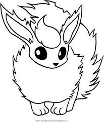 Small Picture Pokemon Flareon Coloring Pages Coloring Home