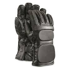 belgian police surplus padded leather motorcycle gloves new double tap to zoom