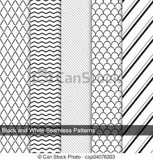 Simple Patterns Cool Fashion Simple Patterns Seamless Black And White Texture