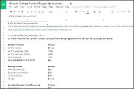 basic budget worksheet college student student budget spreadsheet template crevis co