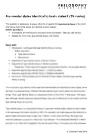 Example Philosophy Essay Products Philosophy A Level