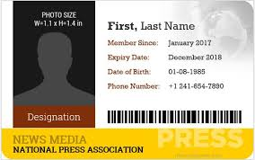 Blank Id Card Template Impressive 44 Best Press Reporter ID Card Templates Microsoft Word ID Card