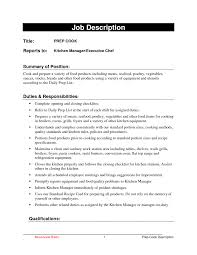Cook Resume Objective Creative Sample Resume Cook Restaurant Also Sample Cook Resumes 36