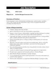 Cook Resume Objective Creative Sample Resume Cook Restaurant Also Sample Cook Resumes 36