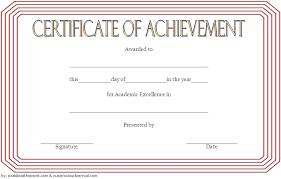 Achievement Awards Certificates Templates Academic Award Template