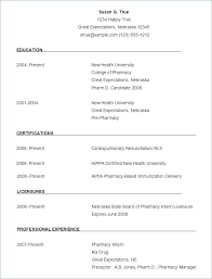 Resume Templates In Microsoft Word Example Of Resume In Word Word