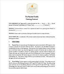 15 Catering Contract Templates Pages Word Free