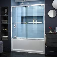 semi frameless sliding bypass tub door