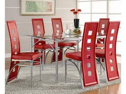 red upholstered dining chairs. Coaster Los FelizDining Table And Chair (Red) Set Red Upholstered Dining Chairs E