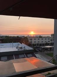 photo of fat pie pizza bellingham wa united states sunset on rooftop