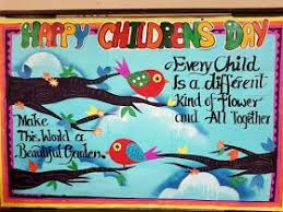 How To Make Children S Day Chart Art Craft Ideas And Bulletin Boards For Elementary Schools