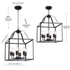 Farmhouse Chandelier Lighting Bonlicht 6 Lights Farmhouse Chandelier Bird Cage 16 Inch Black Finish
