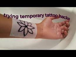 trying a temporary tattoo hack you