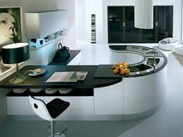 Modular Kitchen Interiors Amazing Modular Kitchen Design Ideas With Curved Shape Black White