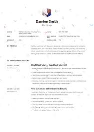 Electrician Apprentice Resume Samples Guide Electrician Resume Samples 12 Examples Pdf