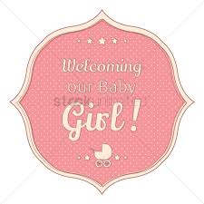 Welcoming Baby Girl Welcoming Our Baby Girl Sticker Vector Image 1811684 Stockunlimited