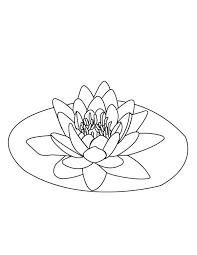 Small Picture Lily Pad on the Middle of Pond Coloring Page Color Luna