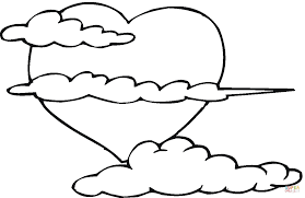 Small Picture Cloud Coloring Pages Coloring Page