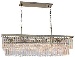 d angelo 40 clear glass crystal prism chandelier antique brass