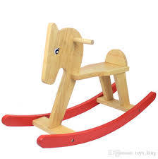 wooden rocking horse ride on kids baby children baby vintage rocker toy animal saddle birthday gift present fast new arrival hot interactive
