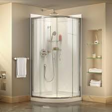 Corner Framed Sliding Shower Enclosure in Chrome with Acrylic Base and Back  Walls Kit-DL-6152-01CL - The Home Depot