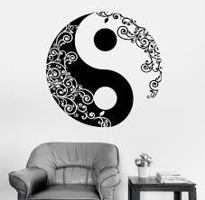 mandala wall sticker home decal buddha yin yang floral yoga meditation vinyl decal wall art mural home decor decoration d 175 wall stickers uk wall stickers  on mandala wall art uk with mandala wall sticker home decal buddha yin yang floral yoga