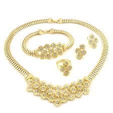 top quality african custum jewelry sets 22k gold jewellery dubai guangzhou fashion necklace