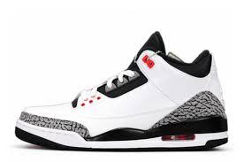 jordan shoes for girls 2014 black and white. air jordan 3 retro white/black-wolf grey-infrared 23 for sale online shoes girls 2014 black and white