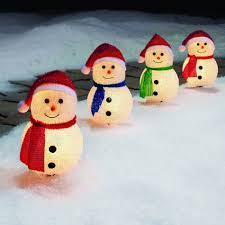 startling outdoor lighted snowman decorations decor