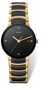 rado centrix men s diamond set two tone bracelet watch