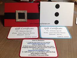 gift certificates crafts by happy stamper santasnowman