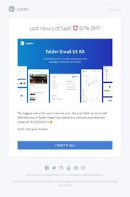 sales kit template 50 unique html email designs tabler email tabler ui kit