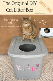 Extraordinary Diy Mess Free Cat Litter Box Can Do Really Original Diy Mess  Free Cat Litter