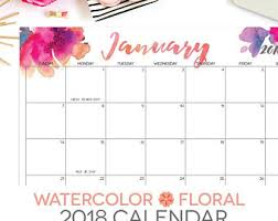 printable calendar 2018 editable digital monthly pages