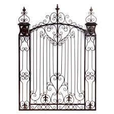 clever design garden gate wall decor designing home bronze metal art kirklands arched distressed vintage on iron gate wall art with clever design garden gate wall decor designing home bronze metal art