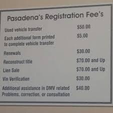 photo of pasadena motor vehicle registration transfer service pasadena ca united states